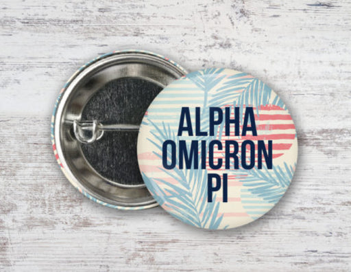 Alpha Omicron Pi Paradise Found Button