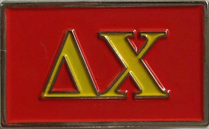 Delta Chi Fraternity Flag Pin