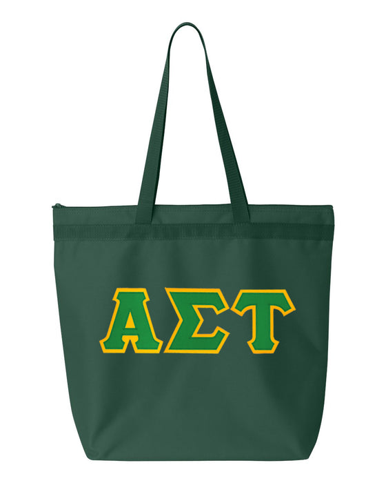 Alpha Sigma Tau Greek Lettered Game Day Tote
