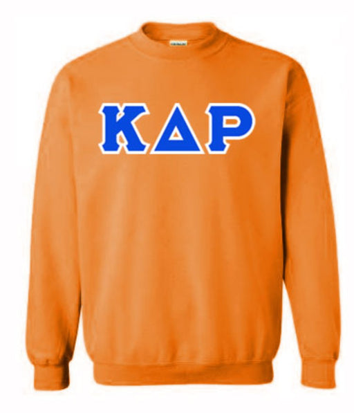 Kappa Delta Rho Classic Colors Sewn-On Letter Crewneck