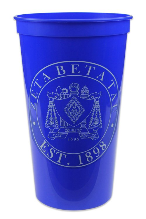 Zeta Beta Tau Big Plastic Cup