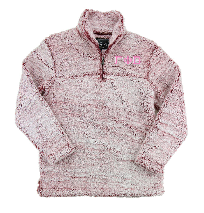 Gamma Phi Beta Embroidered Sherpa Quarter Zip Pullover