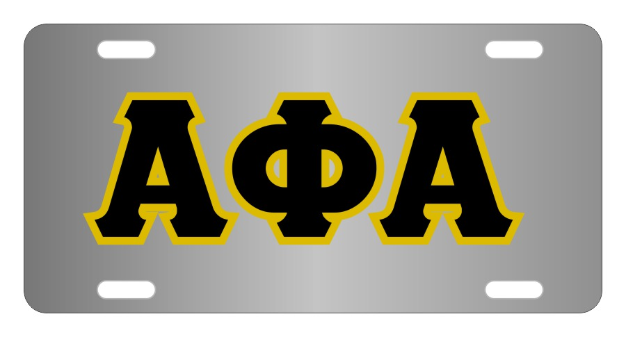 Alpha Phi Alpha Fraternity License Plate Cover