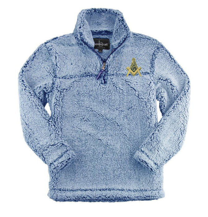 Masonic Embroidered Sherpa Quarter Zip Pullover