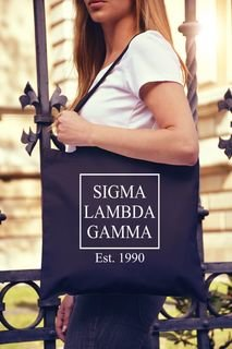 Sigma Lambda Gamma Box Stacked Event Tote Bag