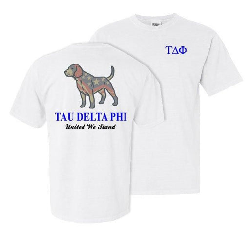 Tau Delta Phi Stand Tall Comfort Colors Heavy Tee