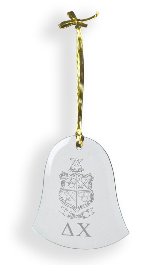 Delta Chi Glass Bell Ornament
