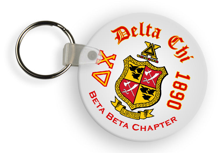 Delta Chi Color Keychain