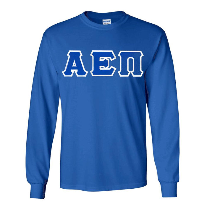 Alpha Epsilon Pi Long Sleeve Greek Lettered Tee