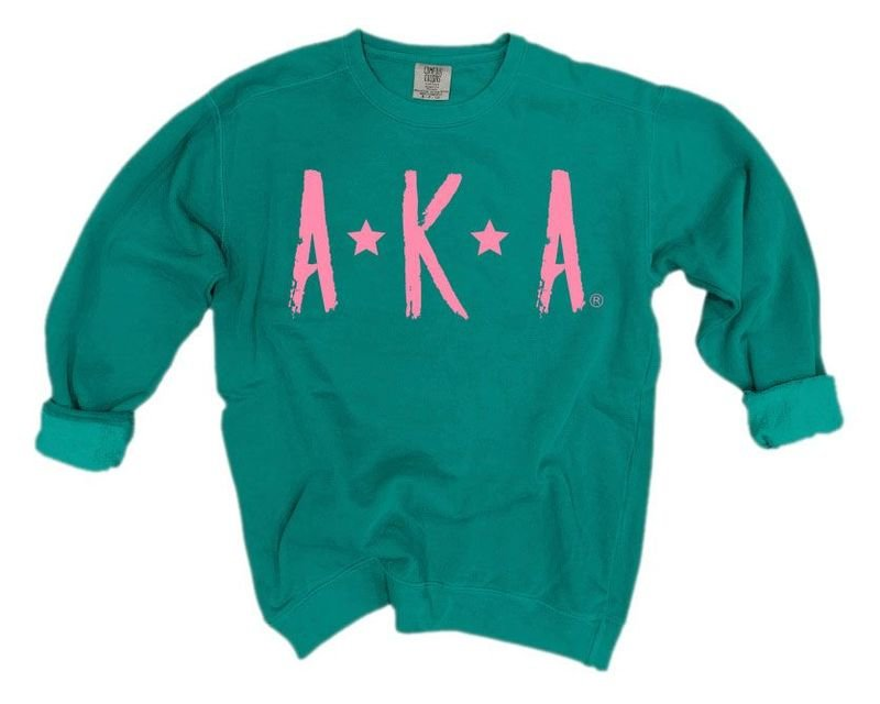 Alpha Kappa Alpha Comfort Colors Starry Nickname Sorority Sweatshirt