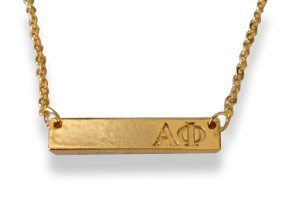 Alpha Phi Bar Necklace
