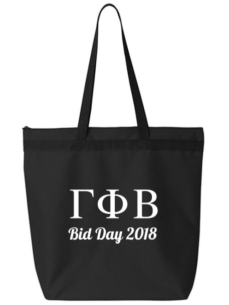 Gamma Phi Beta Roman Letters Event Tote Bag