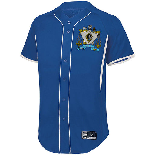 Zeta Beta Tau 7 Full Button Baseball Jersey