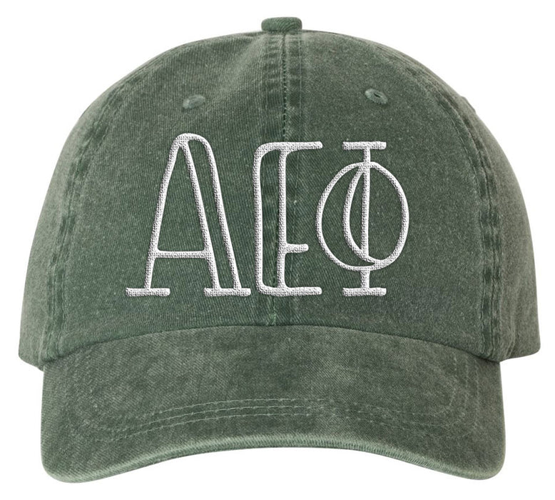 Alpha Epsilon Phi Sorority Greek Carson Embroidered Hat