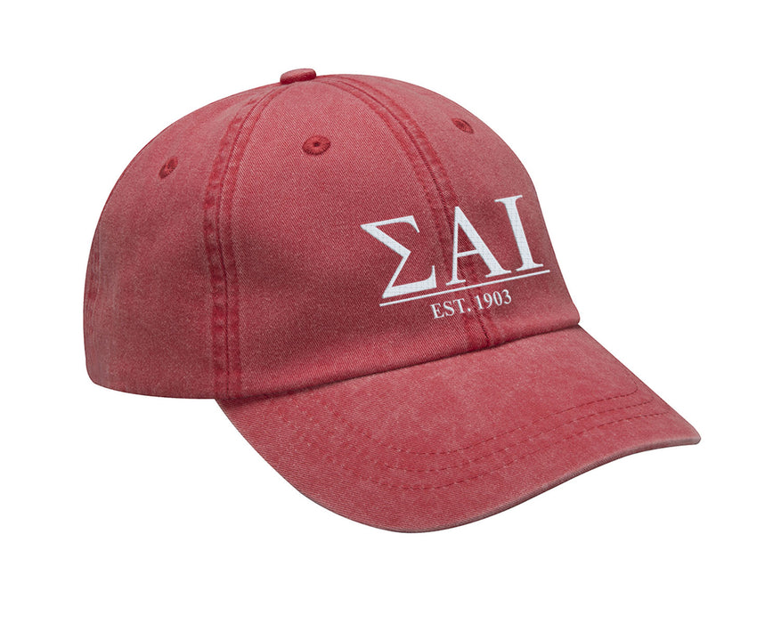 Sigma Alpha Iota Letters Year Embroidered Hat
