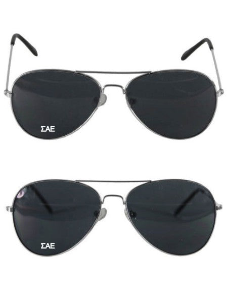 Sigma Alpha Epsilon Aviator Letter Sunglasses