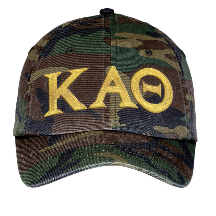 Kappa Alpha Theta Letters Embroidered Camouflage Hat