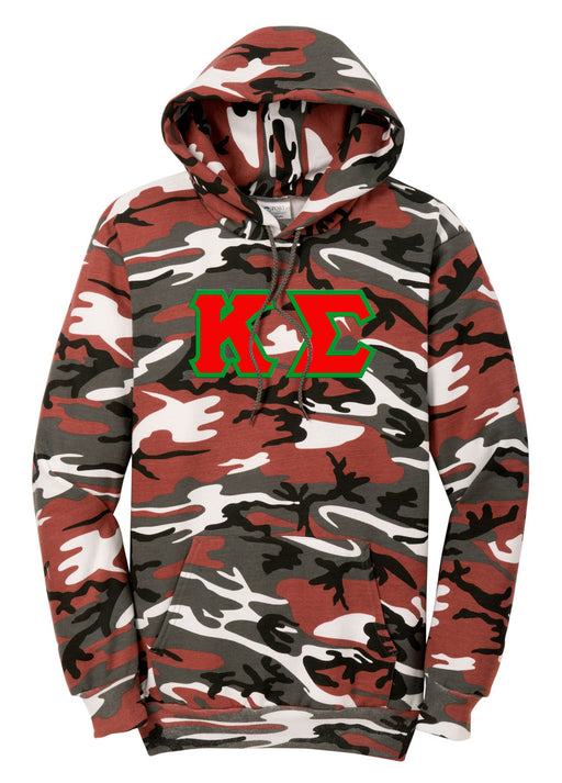 Camo Hooded Pullover Sweatshirt