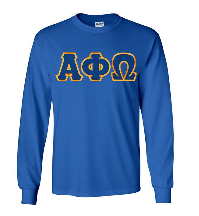 Alpha Phi Omega Long Sleeve Greek Lettered Tee