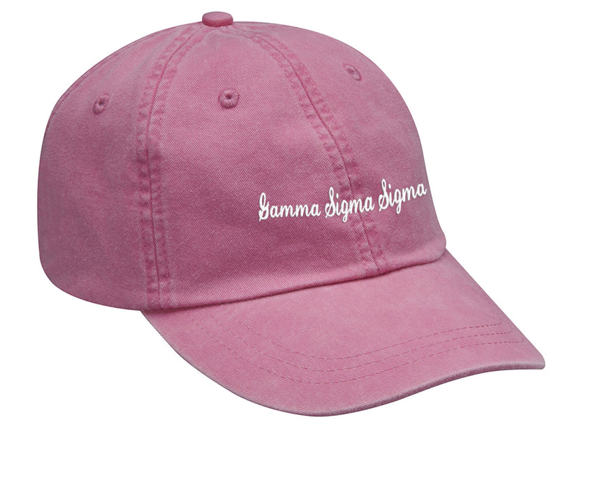 Gamma Sigma Sigma Cursive Embroidered Hat