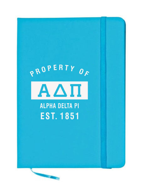 Alpha Delta Pi Property of Notebook