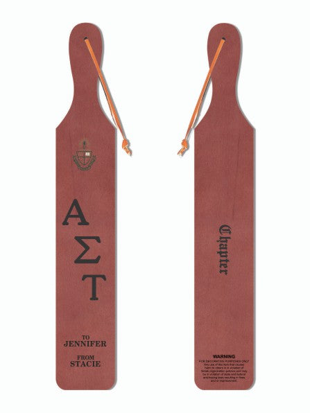 Alpha Sigma Tau Traditional Paddle