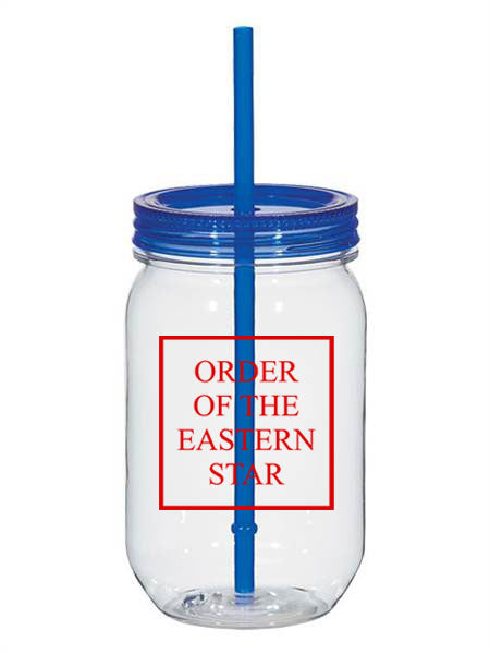 Order Of The Eastern Star Box Stacked 25oz Mason Jar