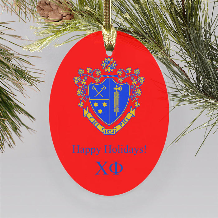 Chi Phi Color Crest Ornament