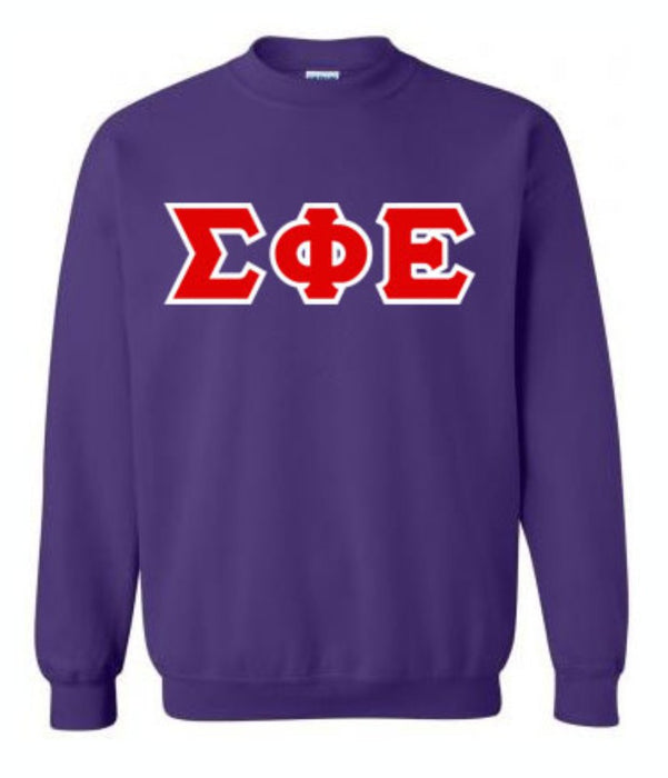 Sigma Phi Epsilon Classic Colors Sewn-On Letter Crewneck