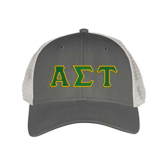 Alpha Sigma Tau Greek Trucker Cap