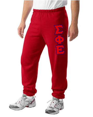 Sigma Phi Epsilon Sweatpants with Sewn-On Letters