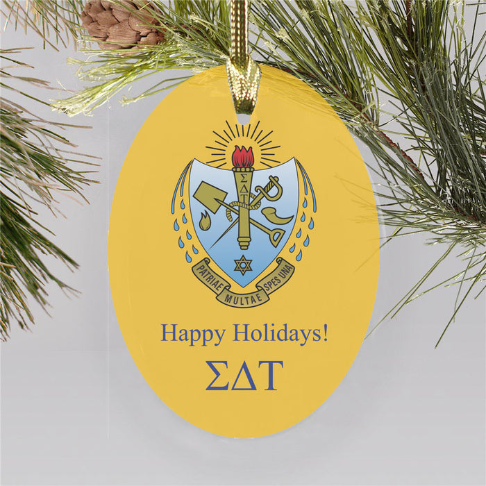 Sigma Delta Tau Color Crest Ornament