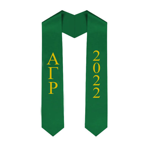 Alpha Gamma Rho Vertical Grad Stole with Letters & Year
