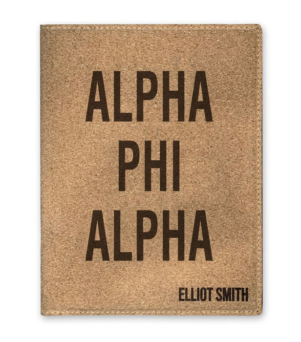 Alpha Phi Alpha Cork Portfolio with Notepad