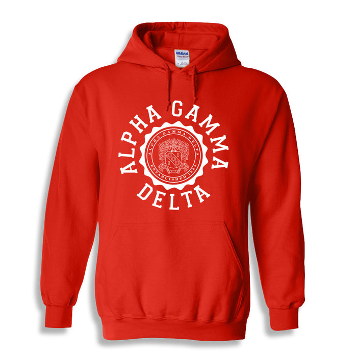 Alpha Gamma Delta World Famous Seal Crest Hoodie