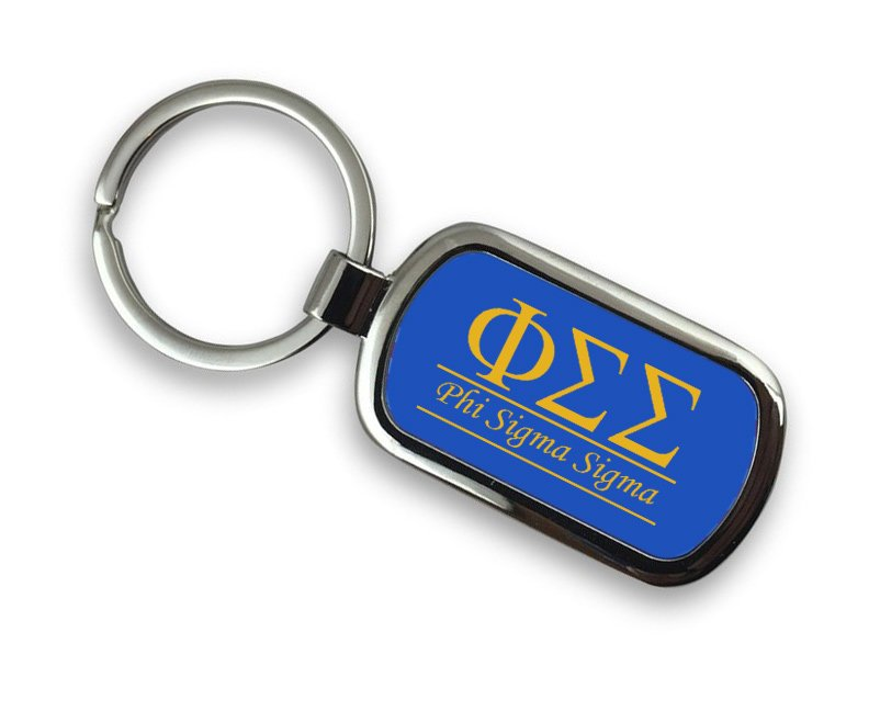 Phi Sigma Sigma Chrome Key Chain