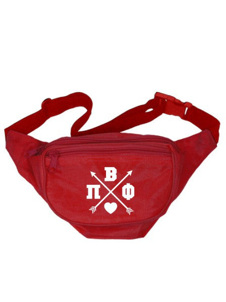Pi Beta Phi Crossed Arrows Fanny Pack