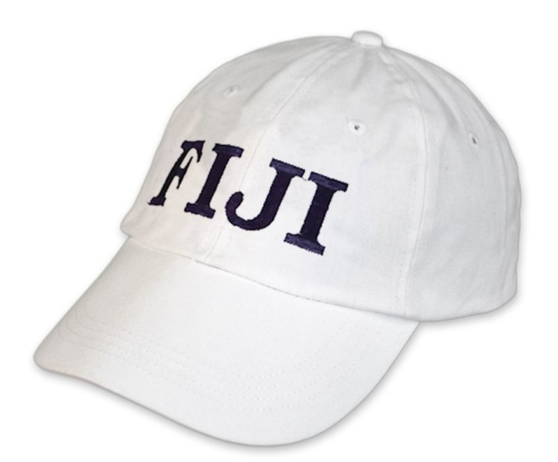 Fiji Greek Letter Embroidered Hat