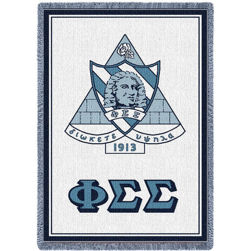 Phi Sigma Sigma Afghan Blanket Throw