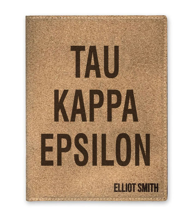 Tau Kappa Epsilon Cork Portfolio with Notepad