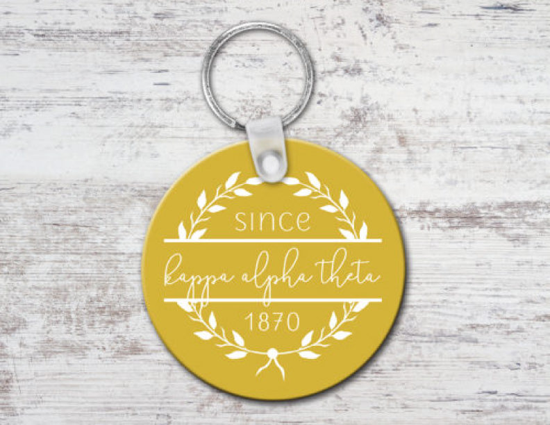 Kappa Alpha Theta Since Established Keyring