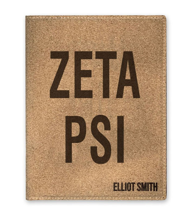 Zeta Psi Cork Portfolio with Notepad