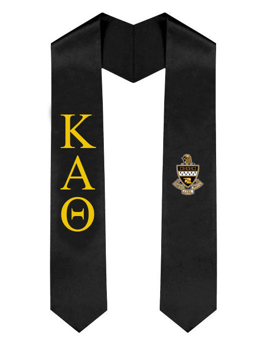 Kappa Alpha Theta Lettered Graduation Sash Stole with Crest