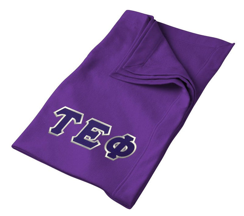 Tau Epsilon Phi Greek Twill Lettered Sweatshirt Blanket