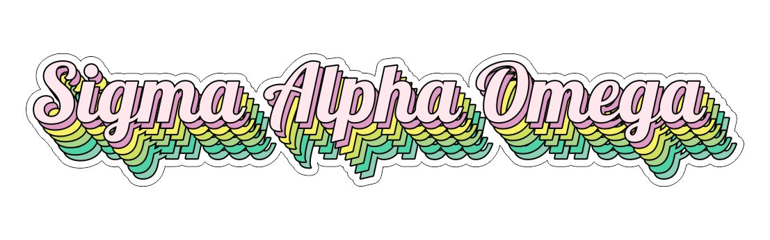 Sigma Alpha Omega New Hip Stepped Sticker