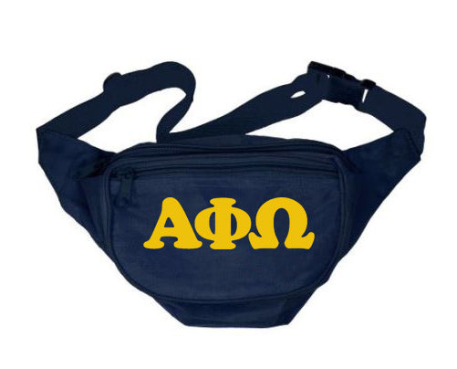 Alpha Phi Omega Fanny Pack Letters Layered Fanny Pack