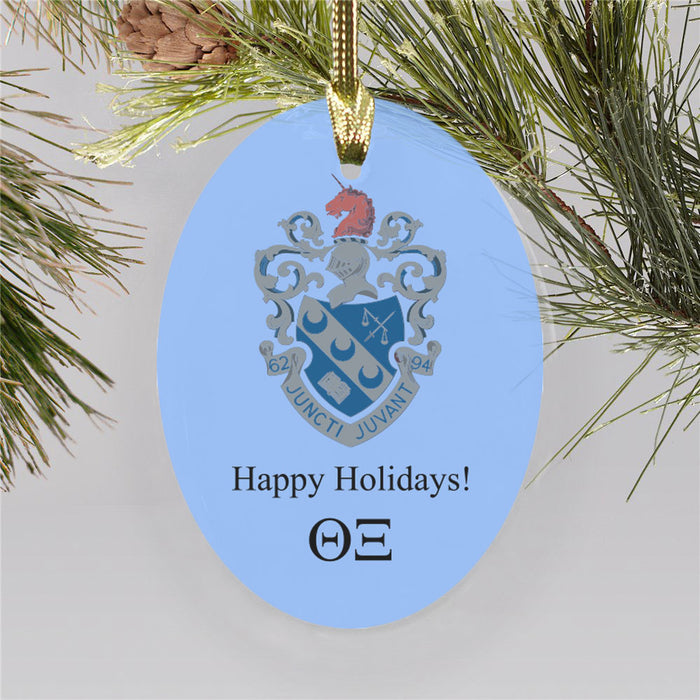 Theta Xi Color Crest Ornament