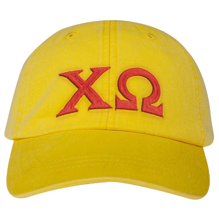 Chi Omega Greek Letter Embroidered Hat