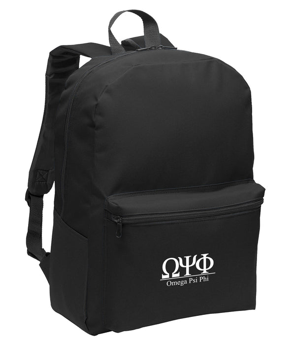 Omega Psi Phi Collegiate Embroidered Backpack
