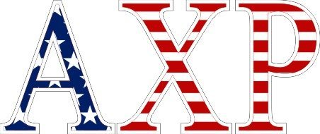 Alpha Chi Rho American Flag Letter Sticker - 2.5
